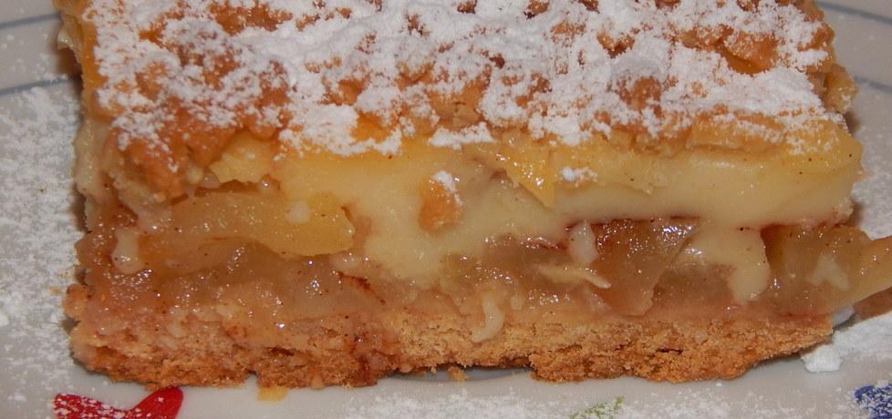 Ciasto kruche z jabłkami i budyniem (autor: habibi)