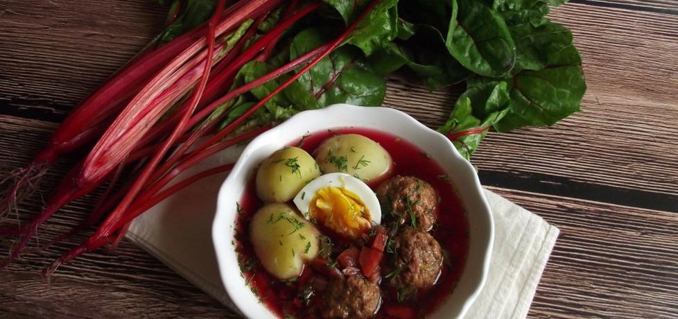 Botwinka z klopsikami, ziemniakami i jajkiem (autor: konczi ...
