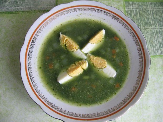 Przepis  zupa szpinakowa z jajkiem przepis