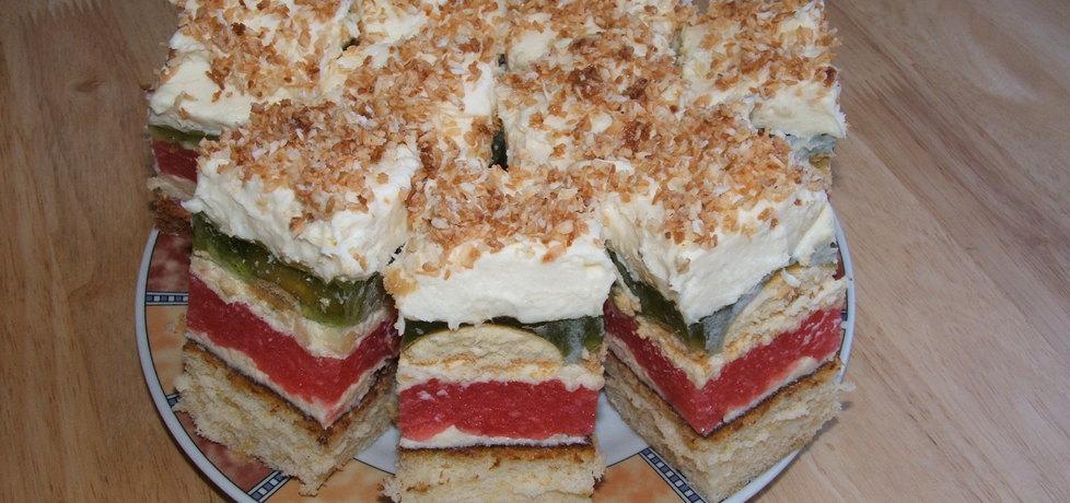 Kolorowe ciasto z posypką (autor: sloneczko222)
