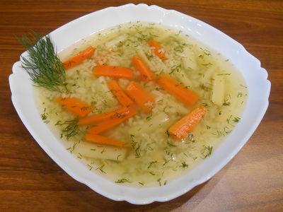 Zupa jarzynowa z koperkiem i ryżem