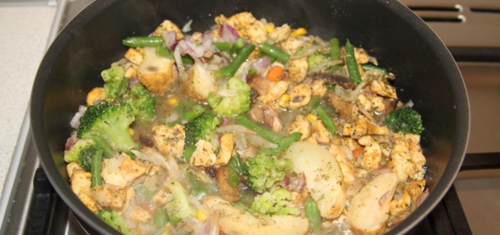 Kurczak z warzywami na patelnię (autor: katarzyna45 ...