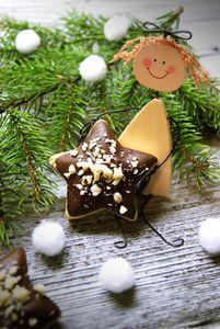 Imbirowe gwiazdki w czekoladzie