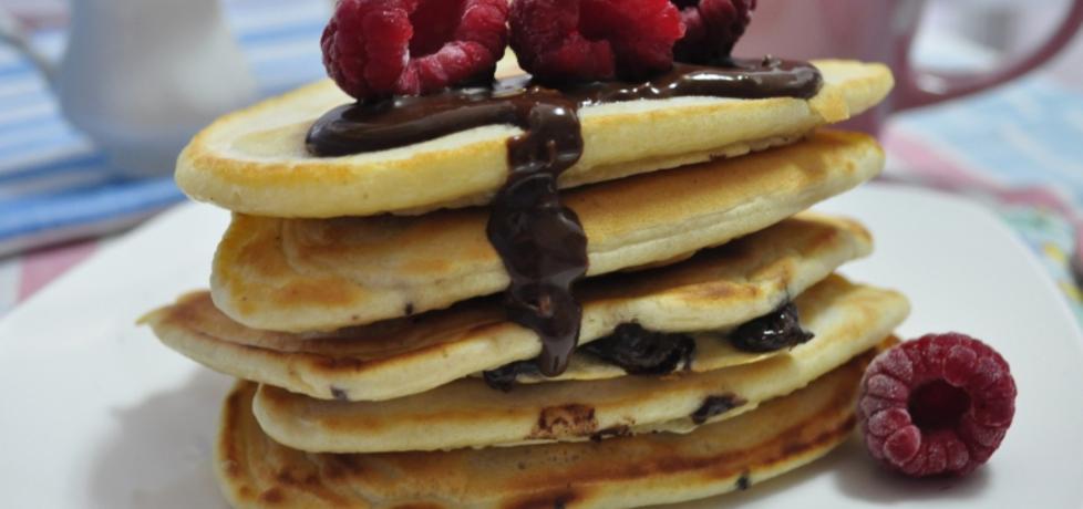 Pancakes z czekoladą i malinami (autor: mienta)