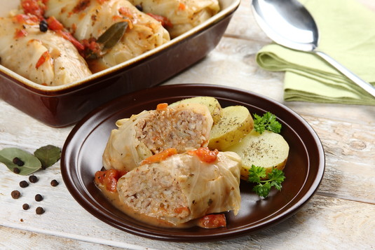 Gołąbki tradycyjne z ryżem i mięsem