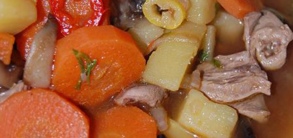 Pikantna zupa z serc drobiowych z pieczarkami (autor ...