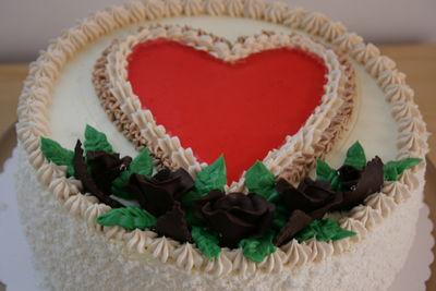 Tort z serduszkiem
