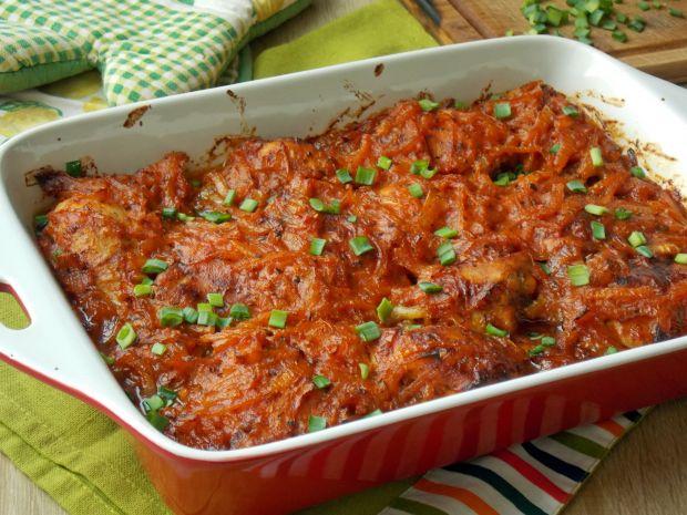 Przepis  udka pieczone w sosie pomidorowym przepis
