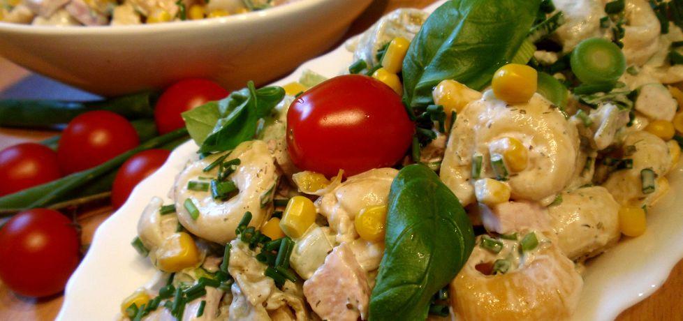 Kolejna sałatka na kolację tortellini ,szynka i zielony ogórek (autor ...