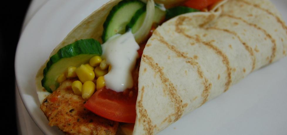 Tortilla z kurczakiem i warzywami (autor: aleksandraolcia ...