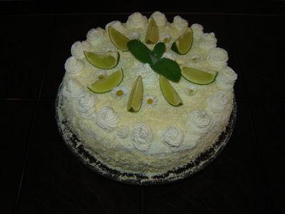 Tort mojito  orzeźwiający tort limonkowo