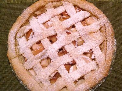 Tarta z jabłkami i pigwą