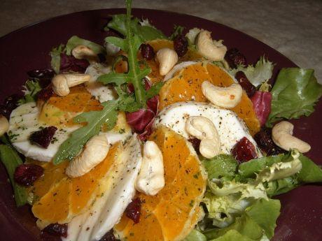 Przepis  sałatka z mozzarellą i pomarańczą przepis