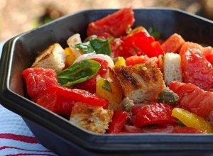 Panzanella  toskańska sałatka  prosty przepis i składniki