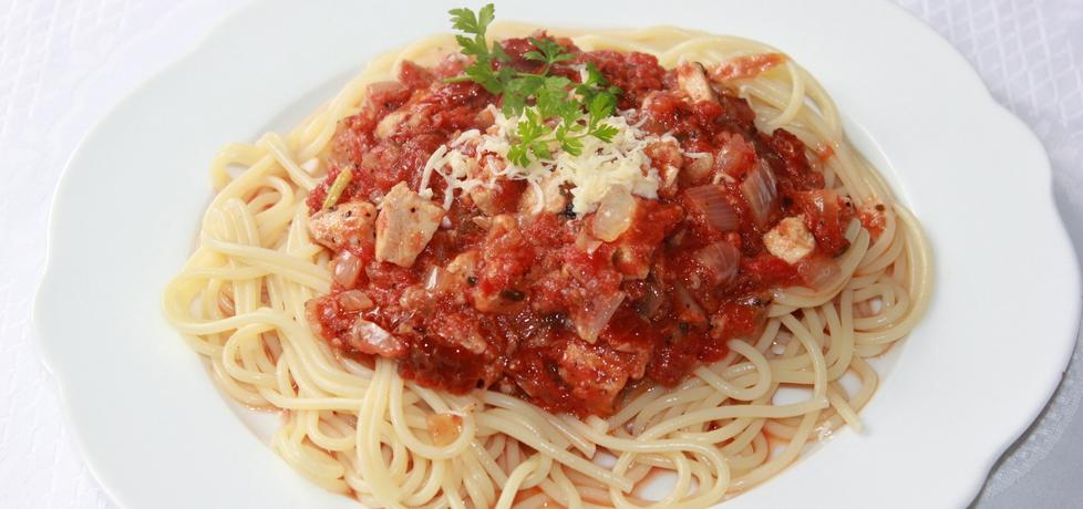 Spaghetti z kurczakiem i suszonymi pomidorami (autor: iskierka.ag ...