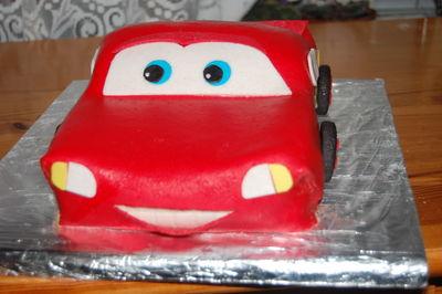 Zygzak auto na urodziny tort zigzak mc queen na 3 urodziny ...