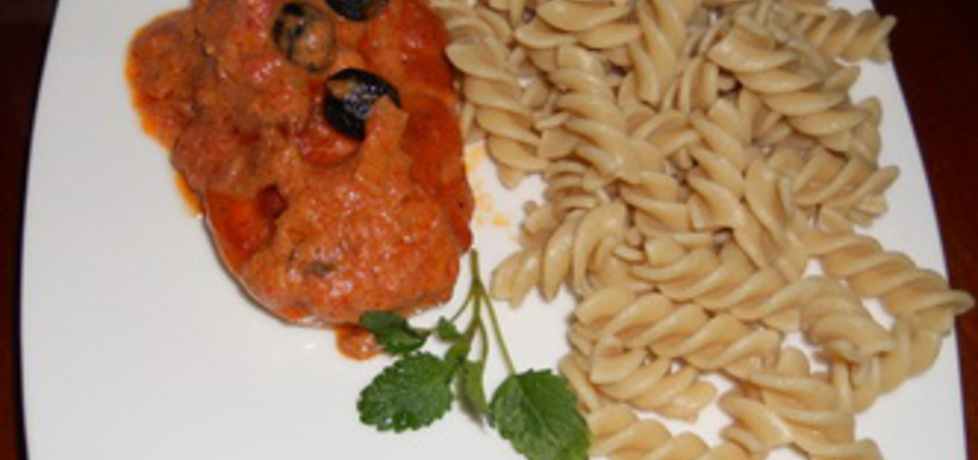 Kurczak w kremowym sosie pomidorowym (autor: aleksandra32 ...