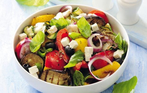 Przepis  sałatka z grillowanych warzyw przepis