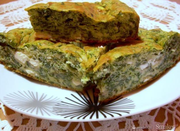 Wytrawne ciasto ze szpinakiem i serem feta