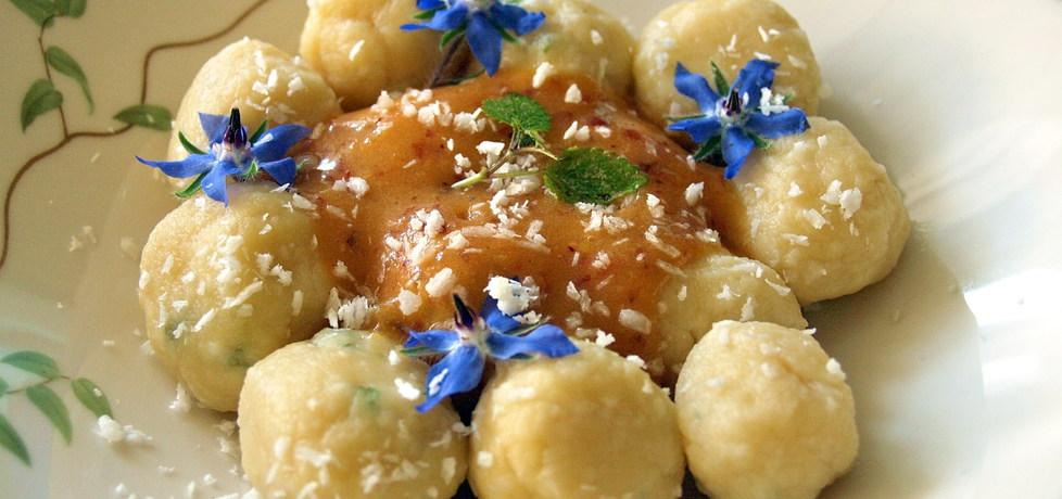 Kluski twarogowe z sosem brzoskwiniowym (autor: pchelka79 ...