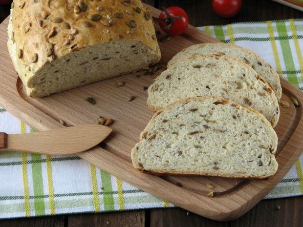 Przepis  chleb z prażonymi ziarnami przepis