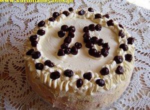Tort wiśniowo-rumowy  prosty przepis i składniki