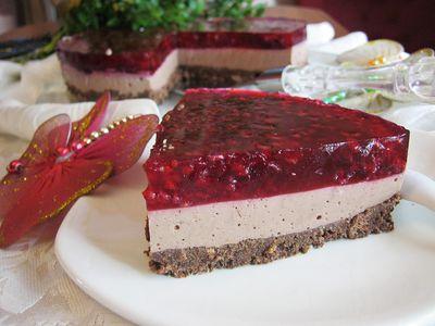 Malinowy obłęd – czekoladowy sernik na zimno z malinami ...