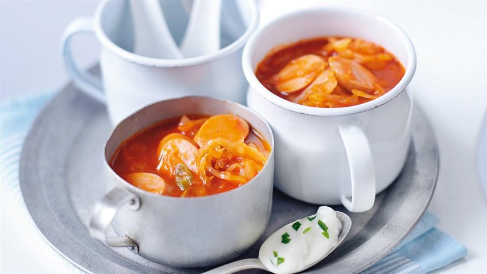 Przepis na zupę pomidorową z kiszoną kapustą