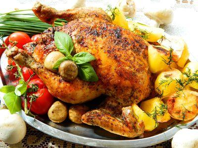 Kurczak faszerowany pieczarkami i papryką