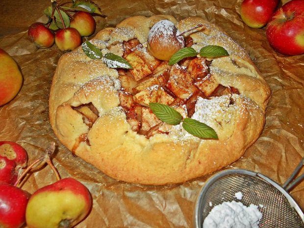 Przepis  rustykalna tarta z jabłkami przepis