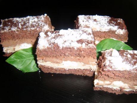 Przepis  ciasto z bezami i chałwą przepis