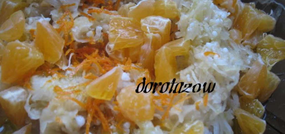Surówka z kapusty kiszonej z pomarańczami (autor: dorota20w ...