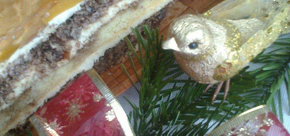 Ciasto orzechowe z brzoskwiniami (autor: janina)