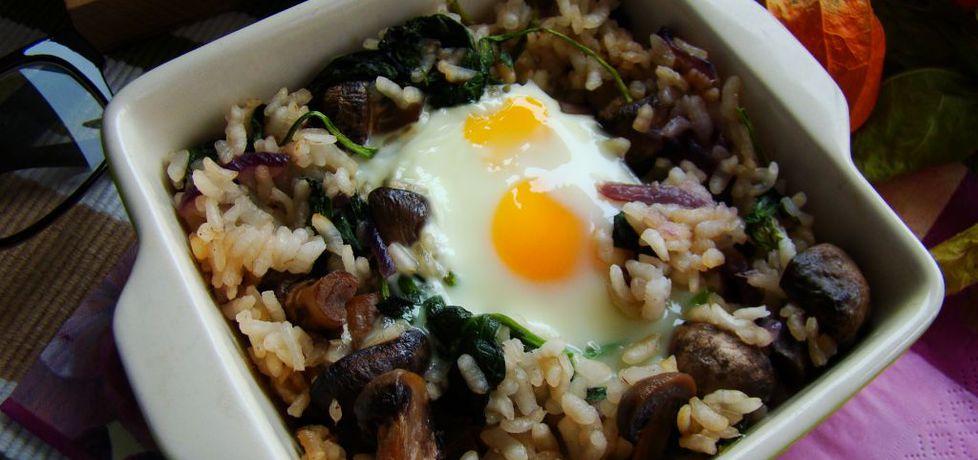 Zapiekanka ryżowa z pieczarkami i szpinakiem (autor: iwa643 ...