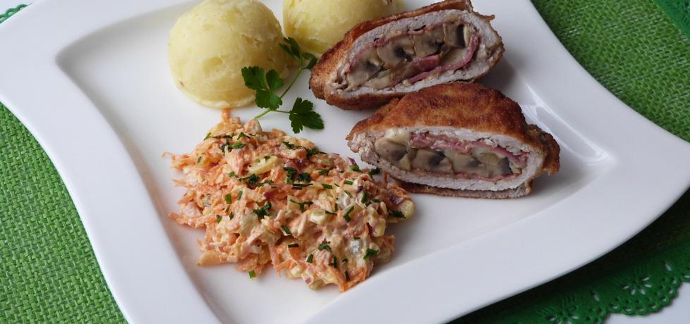 Kotlety schabowe z salami i pieczarkami (autor: renatazet ...