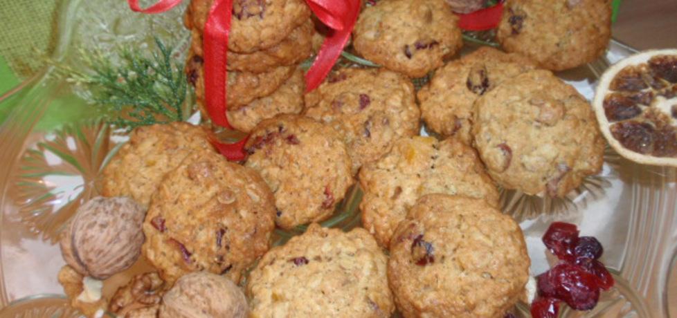 Ciasteczka owsiane z żurawiną i orzechami (autor: gosia56 ...