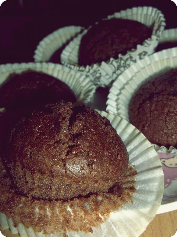 Przepis  czekoladowe muffiny (bez jajek) przepis