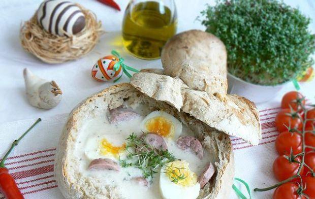 Przepis  żurek w chlebie własnego wypieku przepis