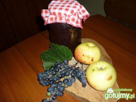 Przepis  kompot z jabłek i winogron przepis