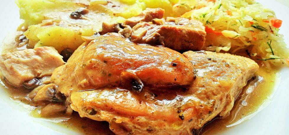 Szynka wieprzowa w sosie pieczarkowym (autor: futka ...