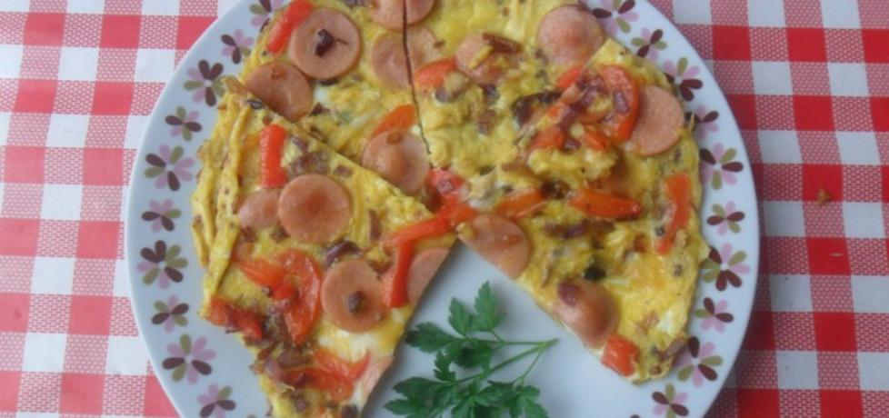 Omlet z parówkami, cebulą i papryką (autor: ikrakowianka ...