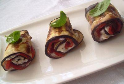 Grillowany bakłażan z gorgonzolą