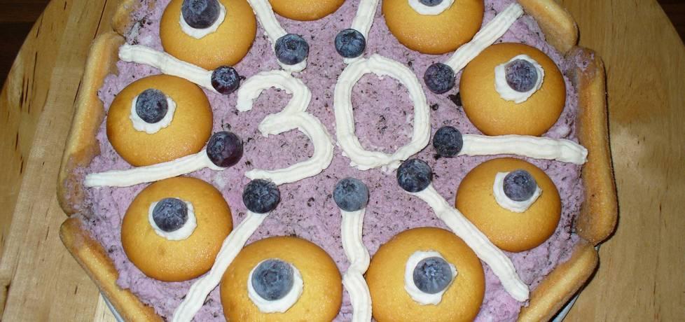 Lodowy tort jagodowy (autor: irenam)
