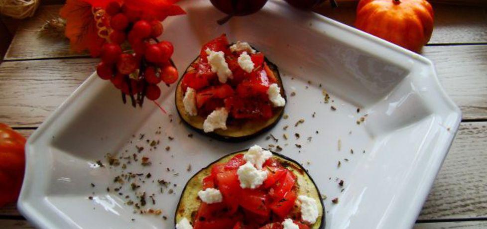 Grillowany bakłażan z salsą pomidorową i serem kozim (autor ...
