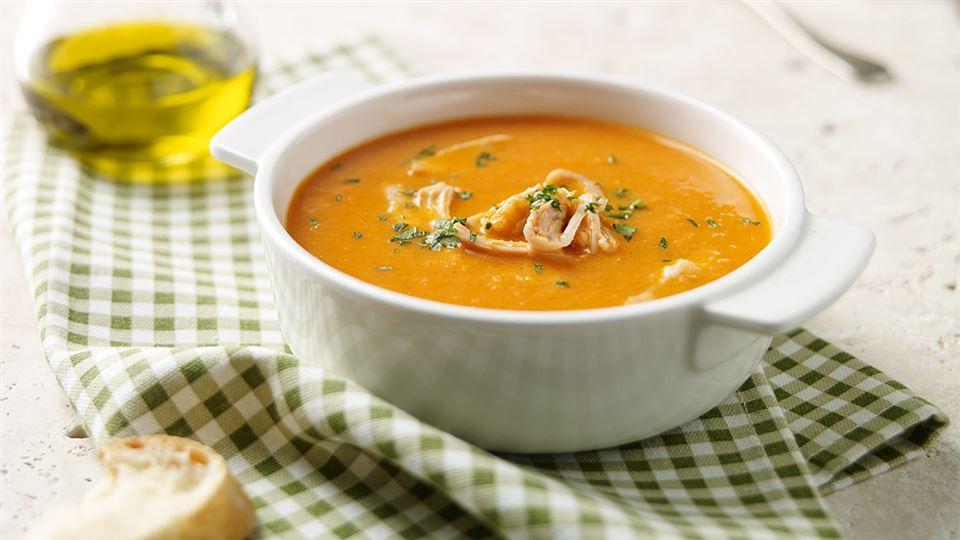 Przepis na zupę krem z kurczakiem