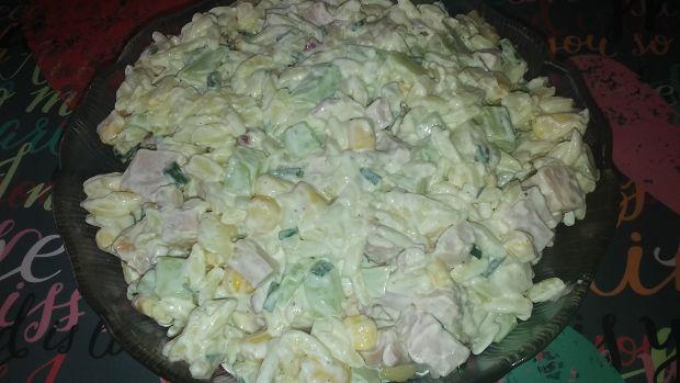 Przepis  sałatka z makaronem ryżowym wg gosi przepis