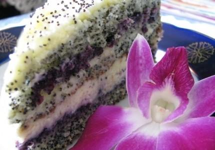 Makowo-jagodowy tort