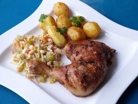 Przepis  udko z kurczaka w cebulowo