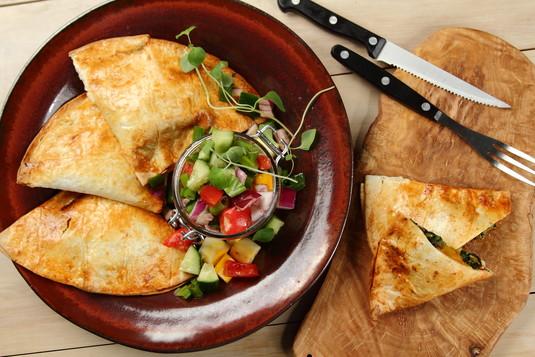 Tortilla ze szpinakiem