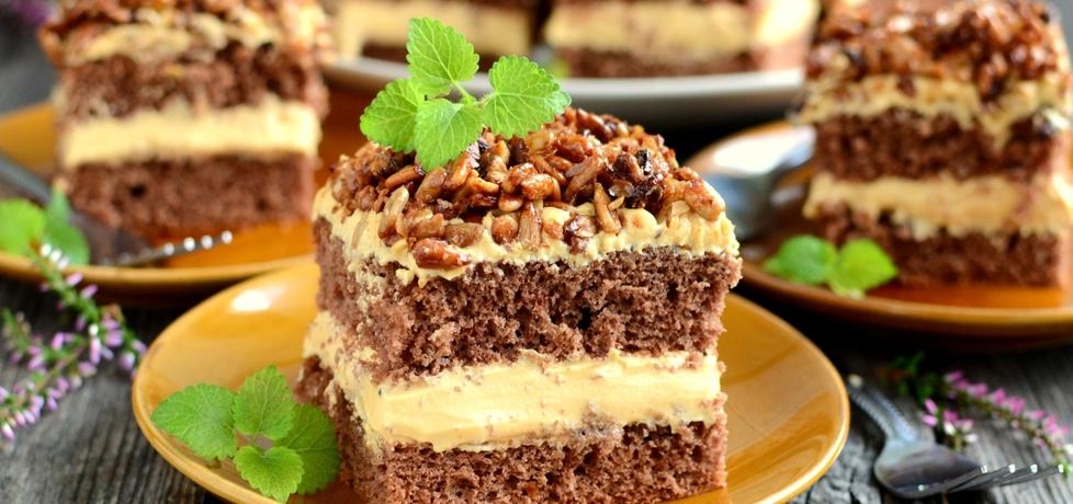Ciasto ze słonecznikiem i kremem karmelowym (autor ...